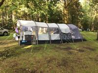 Kampa Croyde 8 tent series 3 as new only used once. Includes footprint and luxury bespoke carpet