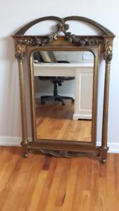 """Miroir antique PALLADIO 45"""""""