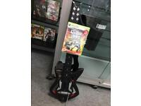 Xbox 360 wireless guitar hero Controller and game