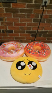 BRAND NEW DONUT AND EMOJI PILLOWS
