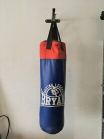 Punch bag and wall bracket - used