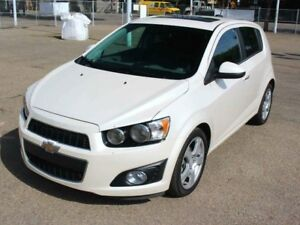 2015 Chevrolet Sonic LTZ LOADED WHITE DIAMOND FINANCE AVAILABLE