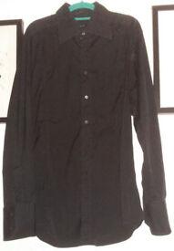 "Gucci Shirt Black 100% Authentic 43"" Chest / 17"" Collar"