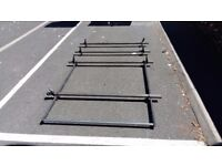VW Crafter Roof Rack 4x Roof Bars + Roller Van Guard ULTI Bar