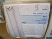 Vinyl Shower Curtain **BRAND NEW** is what it is cheap at only £5.