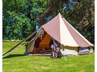 Boutique camping bell tent
