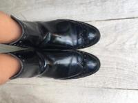 Black Boots Cowboy Style - Zara Size 38