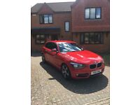 BMW F20 1 SERIES SPORT 2012 MODEL - FBMWSH - AMAZING CONDITION - LOW MILEAGE - RED - MANUAL - PETROL