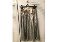 Stunning Silver/ Bronze Miss Selfidge Sequinned Skirt (Party/ Evening/ Occasion Wear) Size 8
