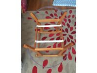 Mothercare snug Moses basket and rocker stand