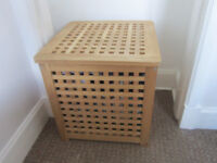 Wooden Storage clothing, laundry box or side table