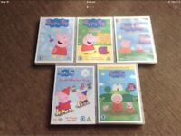 DVD's Peppa Pig Collection x5