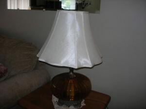 Table lamp with shade located in Golden BC