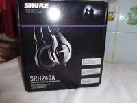 A NEW SET OF SHURE SRH240A HEADPHONES