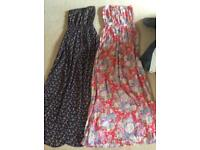 2 strapless Newlook maxi dresses