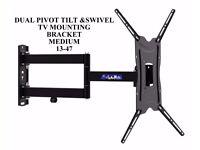 TV Wall Bracket Dual Pivot Tilt & Swivel TV Mounting Bracket 13 TO 47 new sky pc