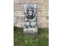 Lion Water Feature with Led Lights £20