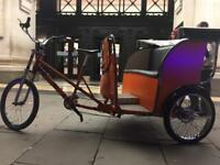 Rickshaw pedicab taxi bike bicycle tok tok 3 wheels fun!