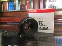Canon 50mm 1.4 usm lens