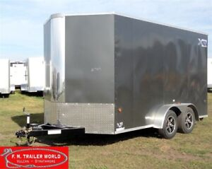 2018 Royal Cargo 7X16 XR Enclosed VNose 86 High Ramp Door Charco