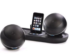 Ipod dock with wireless speakers