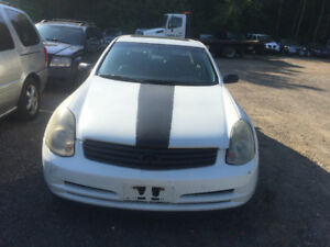 WHITE 2004 INFINITI G35 FOR PARTS