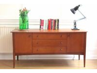 Stylish Vintage Danish teak sideboard / dressing table / chest. Delivery. Modern / Mid century