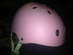 Pink kids bike helmet hardly used