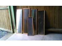 5 assorted sizes of mirrors
