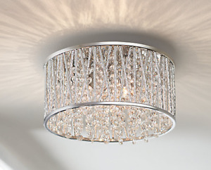 Crystal Flush Mount Chandelier | Buy or Sell Indoor Home Items in ...