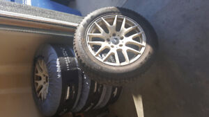 """Winter Tire set with after market 17"""" rims"""