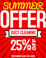 SUMMER OFFER FOR DUCT CLEANING WITH ALL HOT N COLD VENTS $99.99