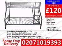 Brand New Double Trieo Bunk . Bed with mattress Ingram