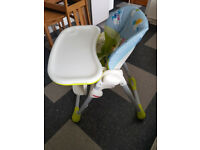 Functionally and good condition adjustable baby chair