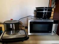 Microwave, rice cooker, slow cooker and sandwhich toaster,