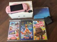 Sony Pink PSP with 4gb memory and games bundle