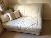 Aztec sofa bed as seen in FV for £599. Asking £250 used twice. Cushions not included. 140 cm long.