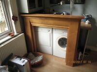 Mantle - Fire surround, wood, very good condition(minot paint 'dabs!'
