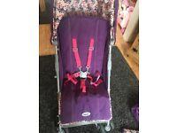 O baby cutie purple stroller
