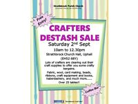 Crafters Destash Sale - Sat 2nd Sept 10am to 12.30pm in Strathbrock Church Hall, Uphall