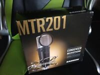 Samson MTR201 Condenser Microphone + Pop Filter, Shockmount, Carry Case, Boxed