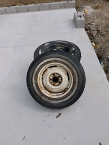 4 trailer rims and tires