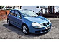 2006 VOLKSWAGEN GOLF 1.9 TDI, 80K MILES, 3KEEPERS,7 STAMPS SERVICE HISTORY, 12 MONTHS MOT, HPI CLEAR