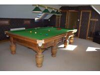 Three Quarter Antique Snooker Table