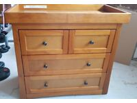 Great Condition Oak Effect Changing Unit