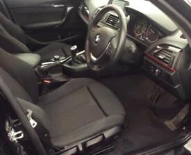 Black BMW 116i 1.6 Sport 2012 5door Leather Alloys FROM £46 PER WEEK!