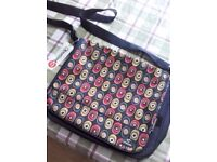 Large Canvas Laptop Bag With Circle Pattern Design by OBSESSED