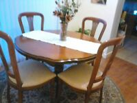 Dining Table and Chairs with Corner Unit
