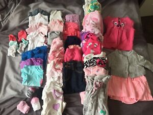 0-3 Month Baby Girl Lot 42 pieces