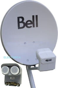 """COMPLETE 20"""" BELL SATELLITE DISH WITH DP TWIN LNB'S FULL HD"""
